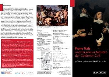 Faltblatt - Kunsthalle der Hypo-Kulturstiftung