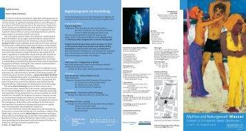 Faltblatt zur Ausstellung - Kunsthalle der Hypo-Kulturstiftung