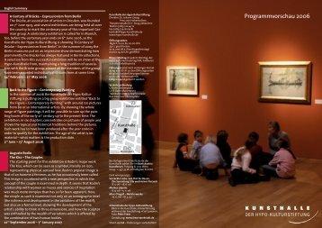 Programmvorschau 2006 - Kunsthalle der Hypo-Kulturstiftung