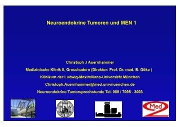Neuroendokrine Tumoren und MEN 1 - Hypophysen