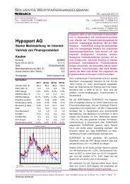 Update - Hypoport AG