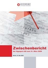 Zwischenbericht Q1 2009 - Hypoport AG