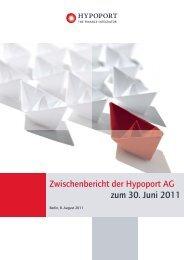 Zwischenbericht Q2 2011 - Hypoport AG