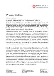 Hypoport AG unterstützt Scrum-Community in Berlin