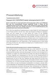 Hypoport AG: EUROPACE startet vielversprechend in 2011