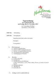 Tagesordnung Naturfreunde Landeskonferenz 2013