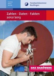 Zahlen · Daten · Fakten 2012/2013 - Handwerkskammer Reutlingen