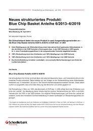Neues strukturiertes Produkt: Blue Chip Basket ... - Schoellerbank