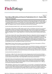 Fitch Affirms HRE Holding and Deutsche ... - Hypo Real Estate
