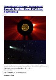 Meteoriteneinschlag statt Sternenregen? Russische Forscher ...