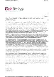 Fitch Affirms Depfa ACS's Covered Bonds at 'A ... - Hypo Real Estate