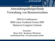Anwendungsübergreifende Verwaltung von ... - Bit Informatik GmbH