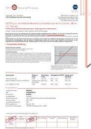Factsheet Valor 20423221 Termsheet vom 13. 02. 2013 COSI