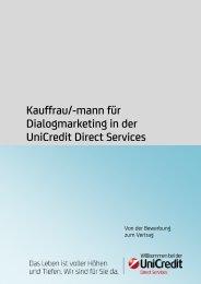 Kauffrau/-mann für Dialogmarketing in der ... - HypoVereinsbank