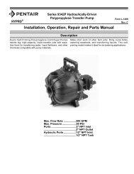 Installation, Operation, Repair and Parts Manual