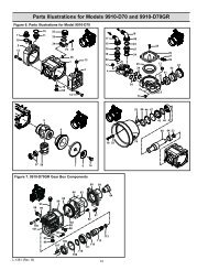 Parts Illustrations for Models 9910-D70 and 9910-D70GR