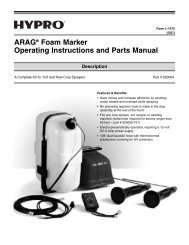 ARAG® Foam Marker Operating Instructions and Parts Manual