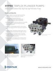 Stainless Steel Triplex Plunger Pumps