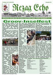 Freitag, den 01.06.2013 Das diesjährige Inselfest an der Groov vom ...