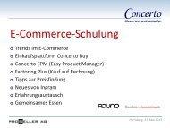 Concerto E-Commerce-Schulung - Concertopro