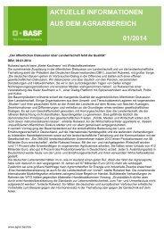 aktuelle informationen aus dem agrarbereich 01/2014 - BASF