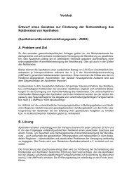 Entwurf eines Gesetzes zur Förderung der Sicherstellung des ...