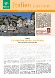 Italien 2014/15 - Biblische Reisen