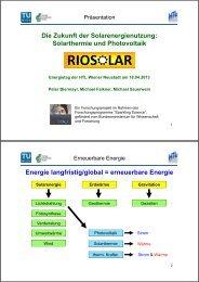 Die Zukunft der Solarenergienutzung: Solarthermie und ... - EEG