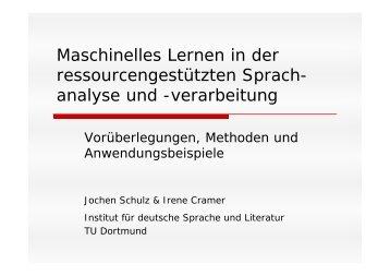 Maschinelles Lernen in der ressourcengestützten ... - TU Dortmund