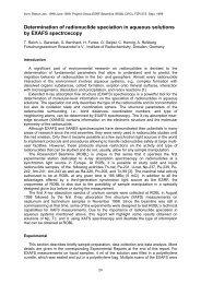 Determination of radionuclide speciation in aqueous ... - HZDR