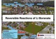 Dr. Oliver Friedrichs, Empa - Reversible Reactions of Li Boranate