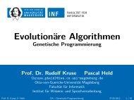 Genetische Programmierung - Otto-von-Guericke-Universität ...