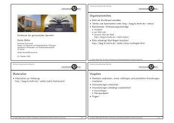 Handouts - German Grammar