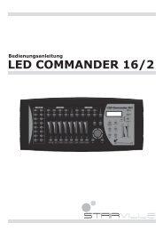 Bedienungsanleitung • LED COMMANDER 16/2