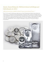Kaum Auswirkung der Mehrwertsteuererhöhung auf ... - GoldSeiten.de