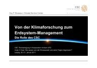 Vortrag Prof. Guy Brasseur, CSC (pdf) - Climate Service Center