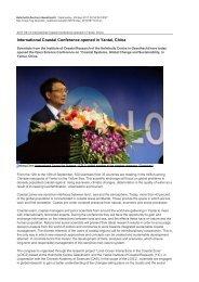 International Coastal Conference opened in Yantai, China