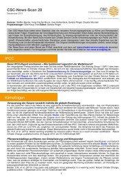 CSC-News-Scan 28 IPCC Klimafolgen