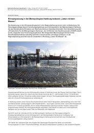 """Klimaanpassung in der Metropolregion Hamburg bedeutet """"Leben ..."""