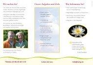 Info-Flyer - Hospital zum Heiligen Geist