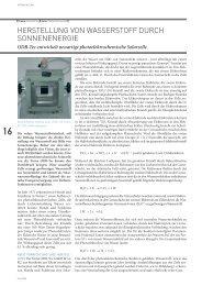 herstellung von wasserstoff durch sonnenenergie - HZwei