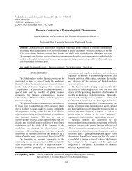 Business Contract as a Pragmalinguistic Phenomenon - Idosi.org