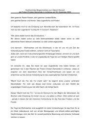 Grußwort des Bürgermeisters zum Advent-Konzert der Freien ...