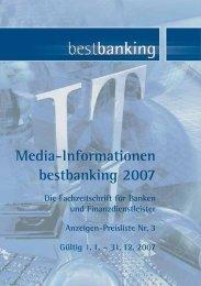 Media-Informationen bestbanking 2007