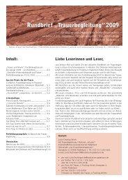 """Rundbrief """"Trauerbegleitung"""" 2009 - Webserver der RLS ..."""