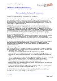 Schritte mit der Pastoralvereinbarung - i-basis.de