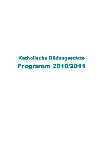 Programm 2010/2011