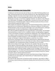 Ziele und Aufgaben des Faches Ethik - i-basis.de