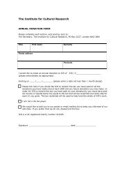 the form in pdf format - The Institute For Cultural Research