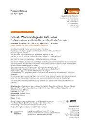 Schuld - Wiedervorlage der Akte Jesus - Neues Theater München